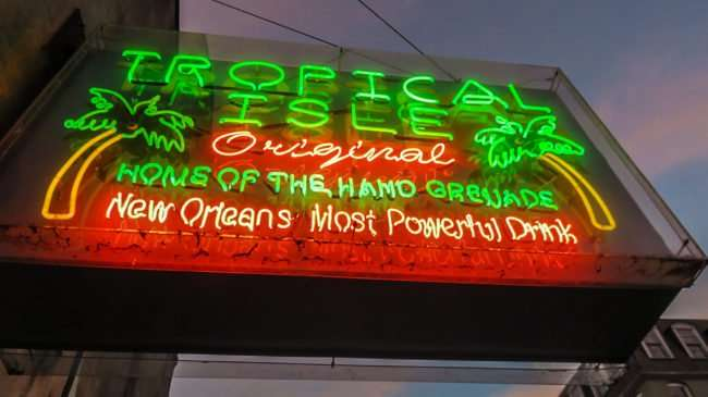 Jan 9, 2017 - SIGN - Tropical Isle Original Home Of The Hand Grenade, New Orleans Most Powerful Drink/photonews247.com