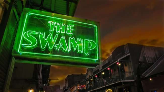 Jan 9, 2017 - The Swamp neon sign, Bourbon Street, French Quarter, New Orleans, LA/photonews247.com