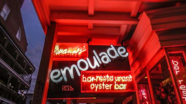 Jan 9, 2017 - emoulade bar restaurant oyster bar, Bourbon St, French Quarter, New Orleans, LA/photonews247.com