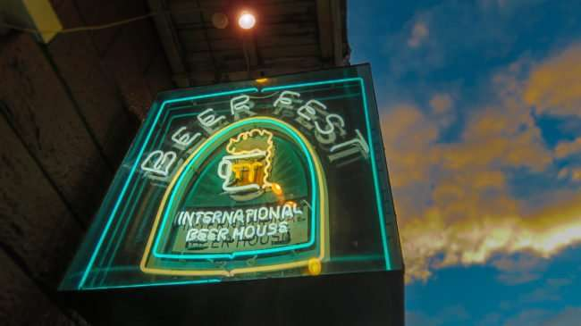 Jan 9, 2017 - neon sign for Beer Fest International Beer House, Bourbon St, New Orleans/photonews247.com
