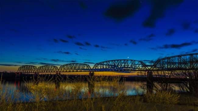 Feb 27, 2017 - Bridge over Ohio River from Harrah's Metropolis IL/photonews247.com
