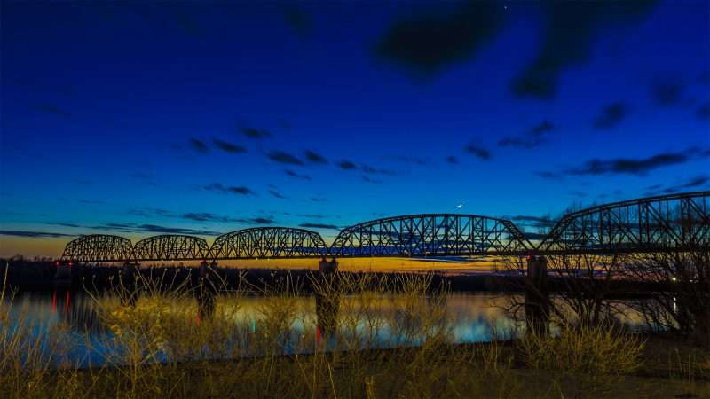 Feb 27, 2017 - Bridge over Ohio River from Harrah's Metropolis IL/photonews247.com