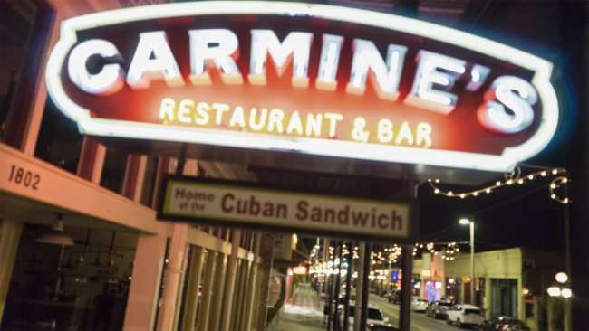 Feb 5, 2017 - Carmine's at 18th Street and 7th Avenue, Ybor City Tampa, FL/photonews247.com