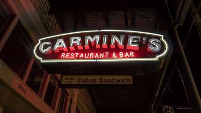 Feb 5, 2017 - Carmines Restaurant and Bar, 7th Ave, Ybor City Tampa, FL/photonews247.com