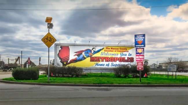 Feb 27, 2017 - Superman billboard Paducah Ky/photonews247.com