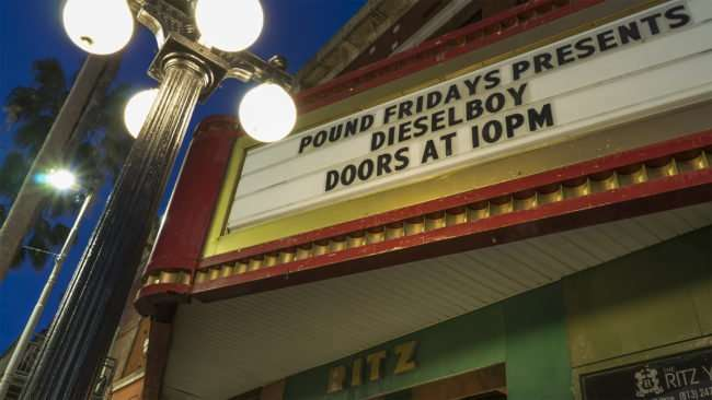 Feb 5, 2017 - The Ritz Marquee on 7th Avenue in Ybor City/photonews247.com