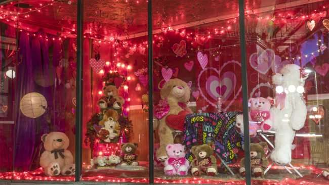 Feb 5, 2017 - Valentines decor in window 7th Ave, Ybor City Tampa/photonews247.com