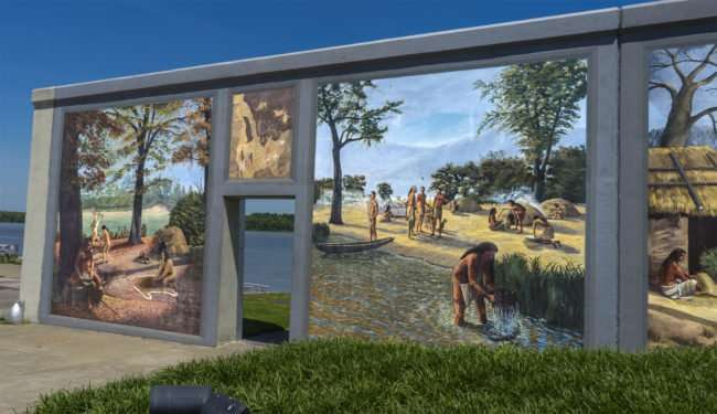 May 15, 2017 - Paducah originally was populated with indians portrayed in Downtown Paducah Floodwall Mural/photonews247.com