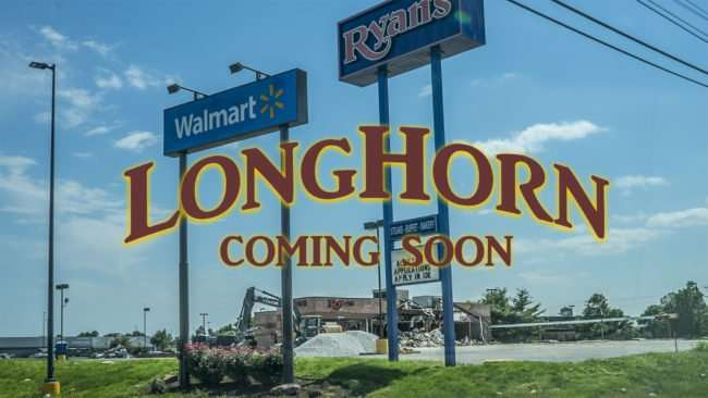 May 25, 2017 - Ryan's Steakhouse is undergoing demolition to make way for LongHorn Steakhouse Paducah, KY/photonews247.com
