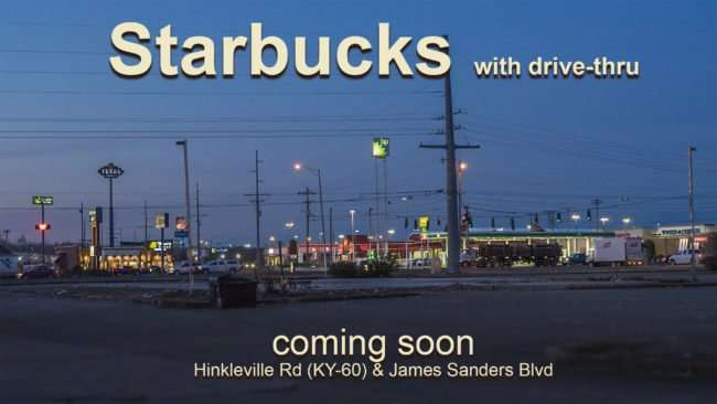 Mar 16, 2017 - Starbucks coming to James Sanders Blvd and KY-60 Hinkleville Rd, Paducah/photonews247.com (CC)