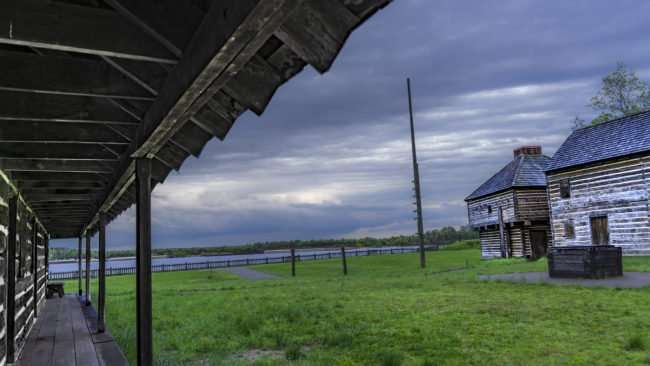 April 20, 2017 - On porch of an American fort at Fort Massac State Park, Metropolis, IL/photonews247.com