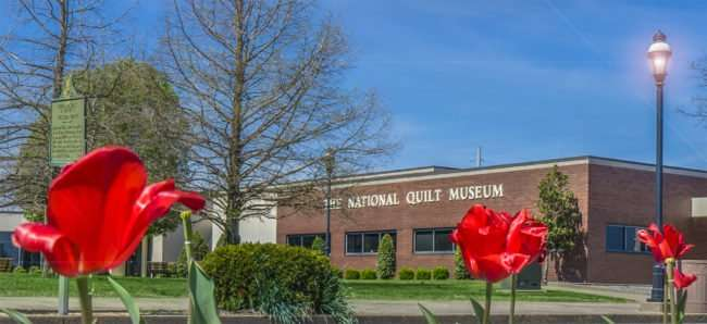 April 8, 2017 - The Dogwood Trail passes by The National Quilt Museum, roses Paducah KY/photonews247.com