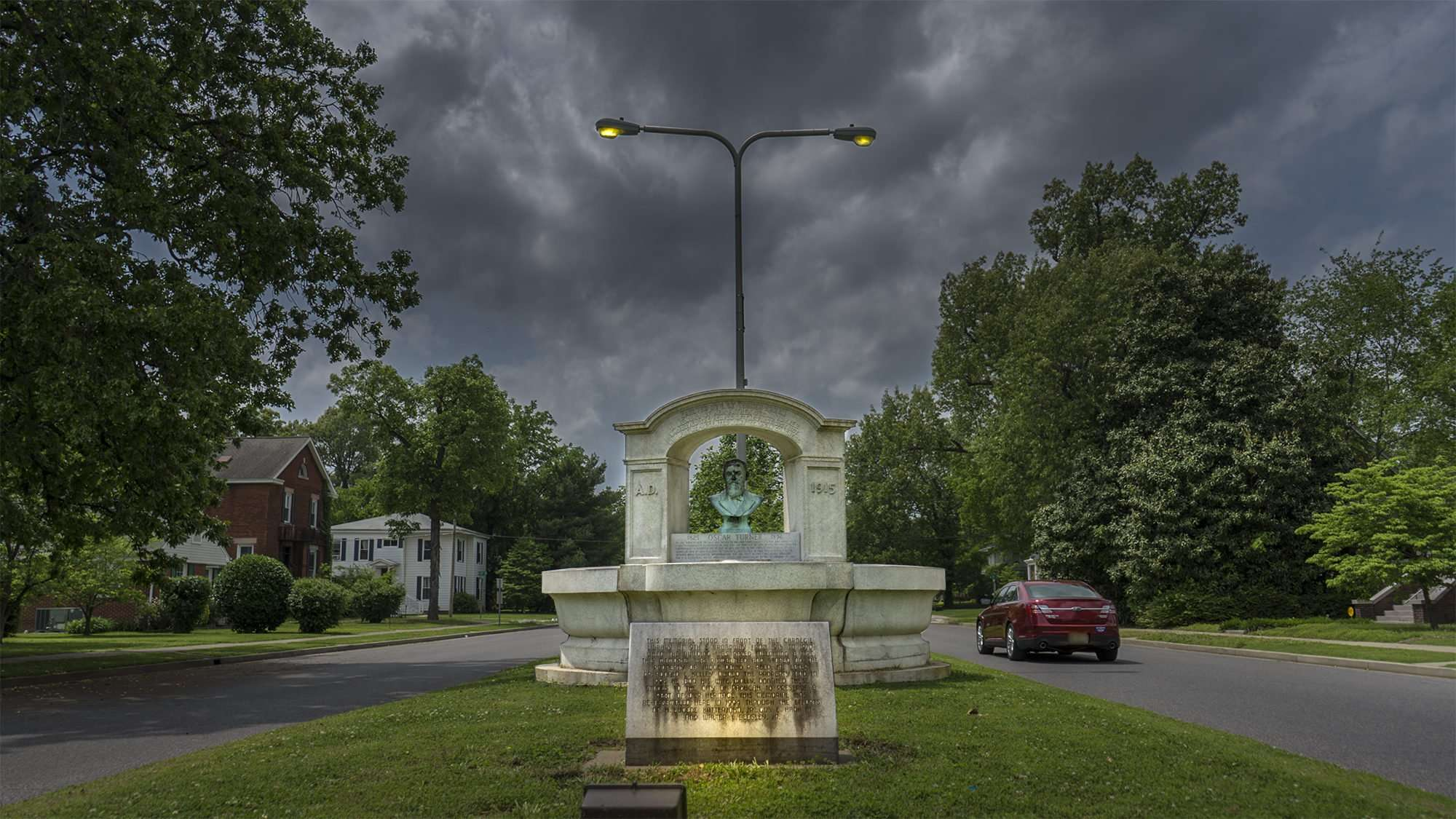 April 29, 2017 - Water fountain on Jefferson Street between 24th and 25th, Paducah, KY/photonews247.com