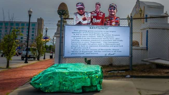 04.02.2017 - biggest Kryptonite metorite is located on Ferry Street in the Hollywood Museum in Metropolis, IL/photonews247.com