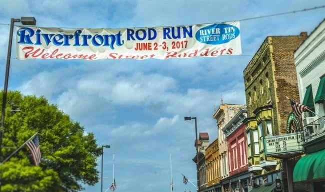 May 28, 2017 - Broadway banner Riverfront Rod Run, 2017 River Tin Street Rods, Paducah, KY/photonews247.com