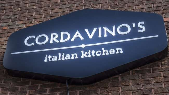 May 25, 2017 - Cordavino's Italian Kitchen, 310 Ferry Street signage, Metropolis IL/photonews247.com