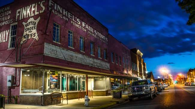 May 21, 2017 - Finkels Fair Store red historic building, downtown Paducah, KY/photonews247.com