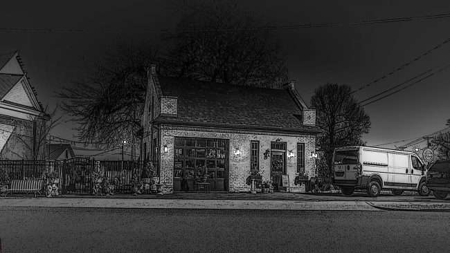03.04.2018 - FrenchTown Station Paducah, KY - a black and white rendering/photonews247.com