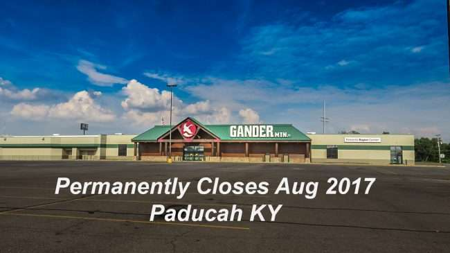 Aug 29, 2017 - Gander Mountain closes at Kentucky Mall, Paducah Aug 2017/photonews247.com