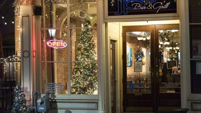 Dec 7, 2017 - JP's Bar and Grill Christmas tree and lights on Market House Square, historic downtown Paducah, KY/photonews247.com