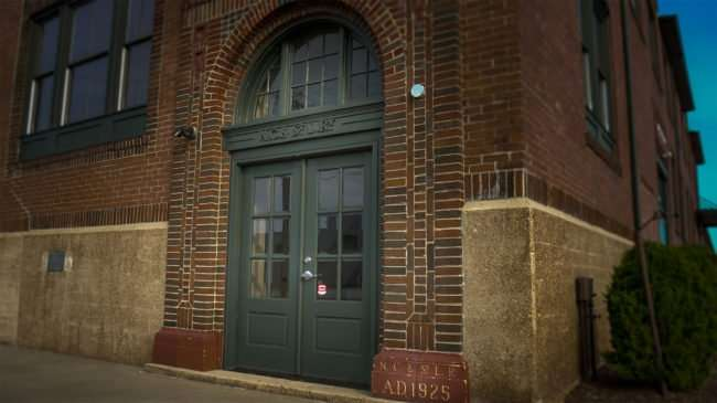 May 18, 2017 - Paducah Chamber building resides in former Railroad Freight Depot with markings on door N.C. & St. L. Ry. (AD 1925)/photonews247.com