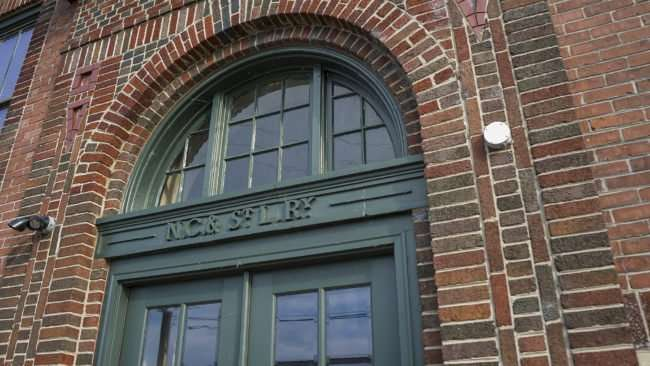 May 18, 2017 - Paducah Chamber building former Railroad Freight Depot with markings on door NC & St. L. Ry. /photonews247.com