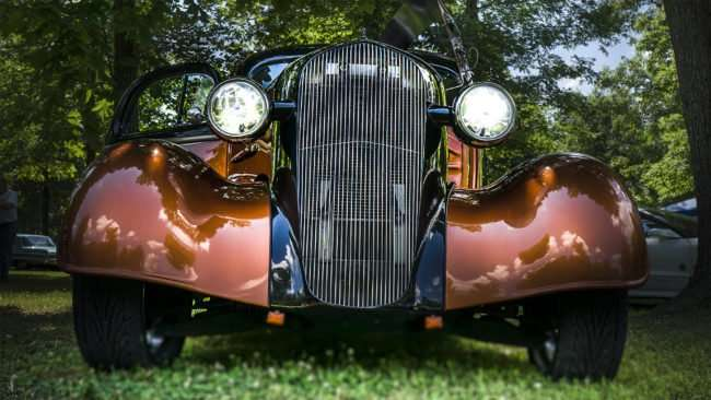 June 11, 2017 - Antique car competes at 31st Annual Super Car Show in Fort Massac State Park presented by the Metropolis Rotary Club in Metropolis, IL/photonews247.com