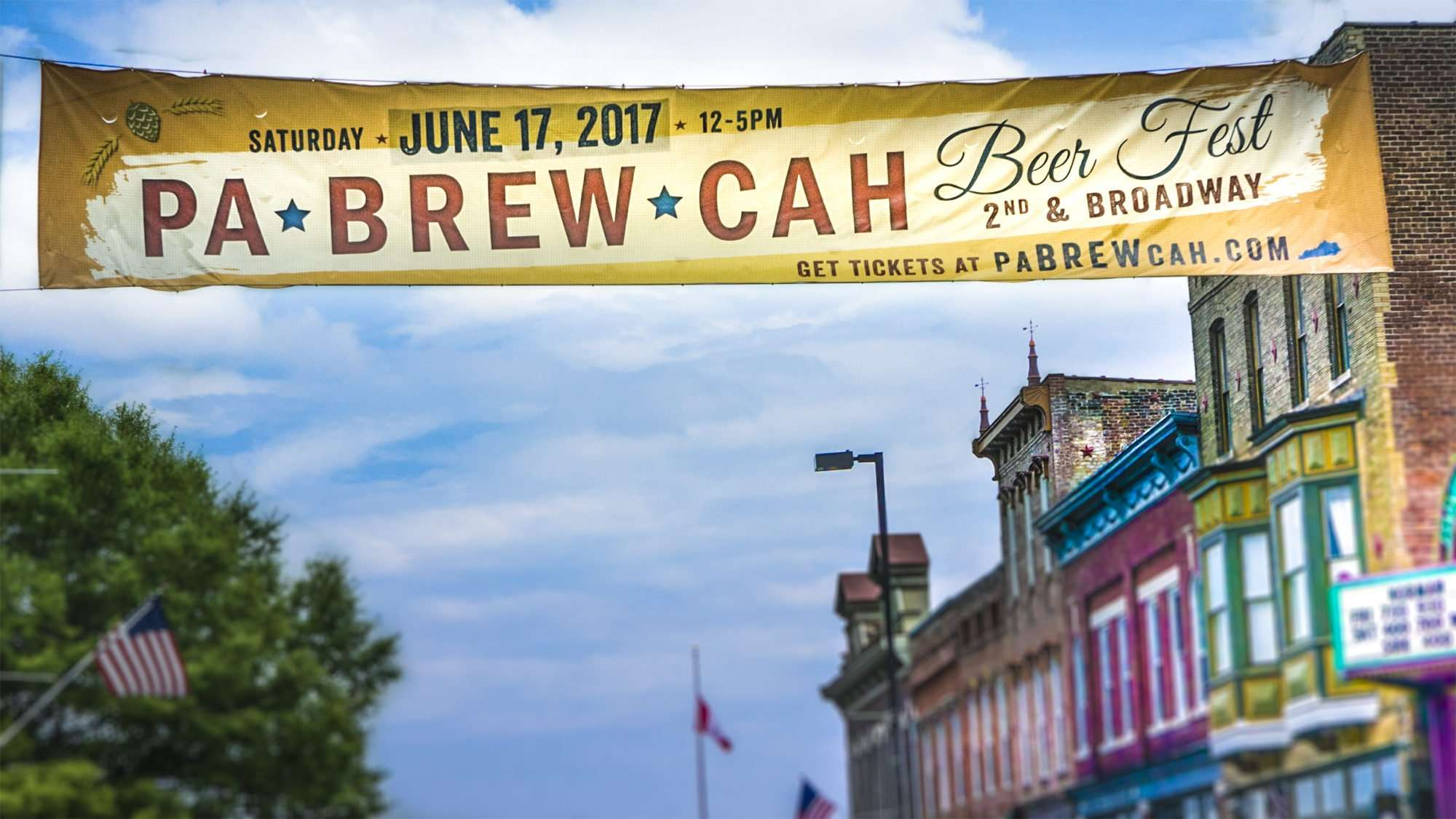 June 17, 2017 - Banner PA-BREW-CAH, Downtown Paducah, KY June 17, 2017/photonews247.com