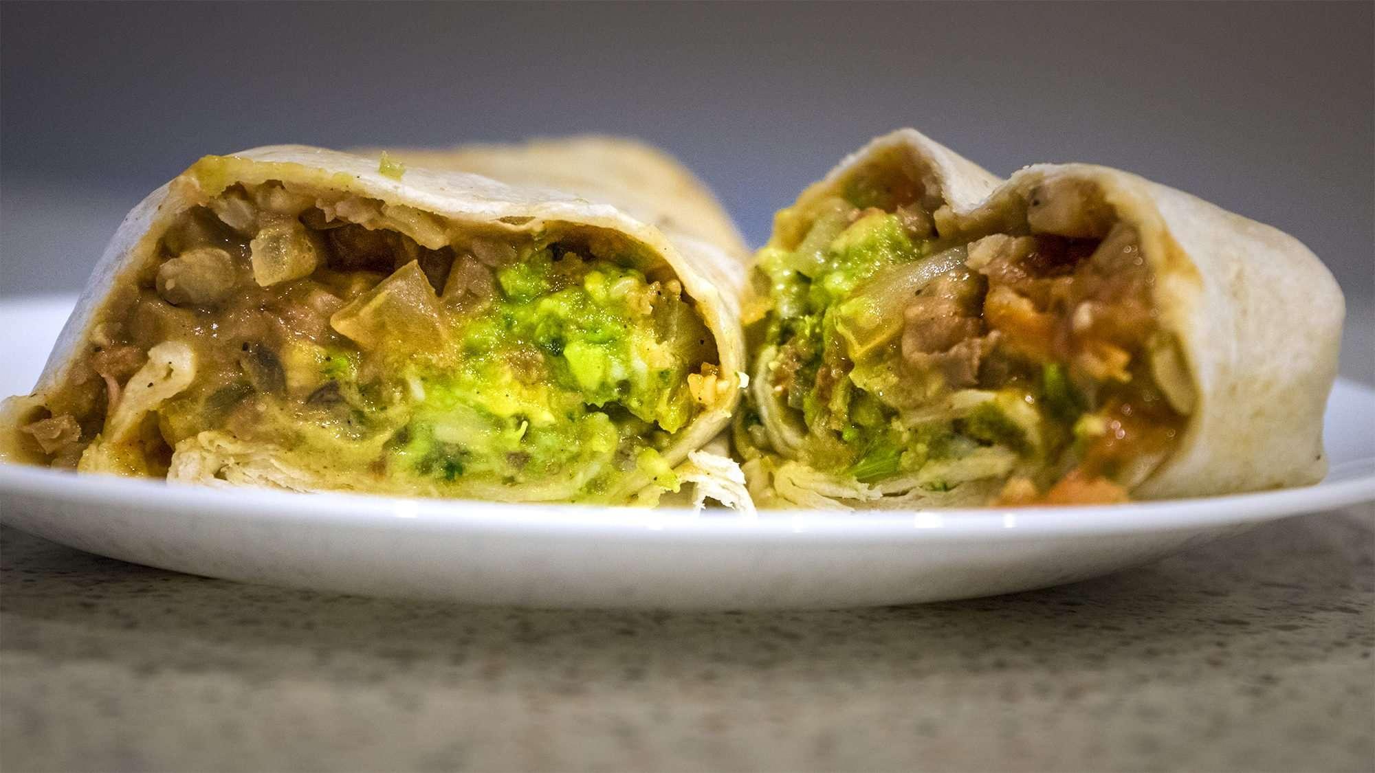June 30, 2017 Burrito - Rice, Bean, Lettuce, Tomato, Boss Burrito food truck, Paducah, KY/photonews247.com