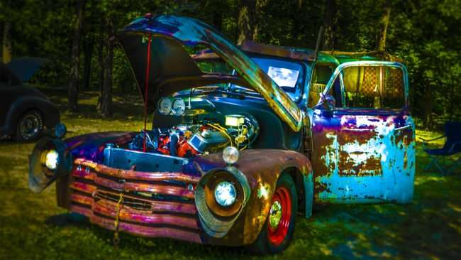 June 11, 2017 - Colorful rusted 1948 Chevy Truck at 31st Annual Super Car Show in Fort Massac State Park presented by Metropolis Rotary Club of Metropolis, IL/photonews247.com