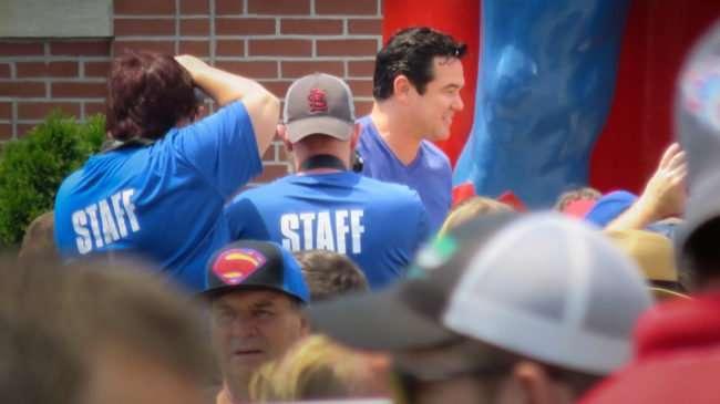 June 10, 2017 - Dean Cain greets fans on Market Street at statue during Superman Celebration 2017, Metropolis, IL/photonews247.com
