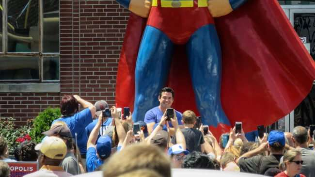 June 10, 2017 - Dean Cain with crossed arms while posing for fans at stature during Superman Celebration 2017, Metropolis, IL/photonews247.com