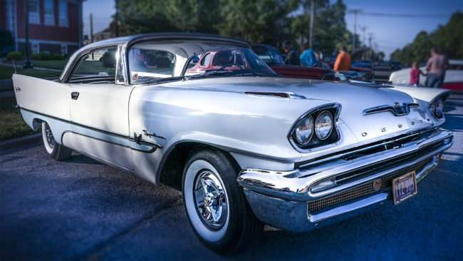 June 9, 2017 - Desoto (white) at Super Cruise Night 2017 car show - Metropolis, IL/photonews247.com