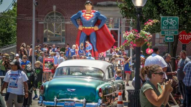 June 9, 2017 - Fans in line up to meet Official Metropolis Superman at Superman Celebration 2017/photonews247.com