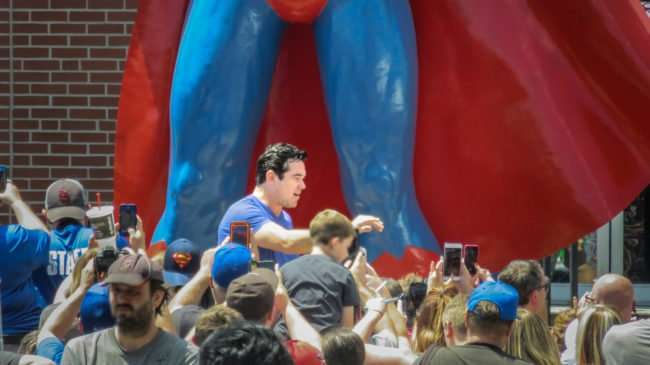 June 10, 2017 - Fans taking photos with cell phones of Dean Cain during Superman Celebration 2017, Metropolis, IL/photonews247.com