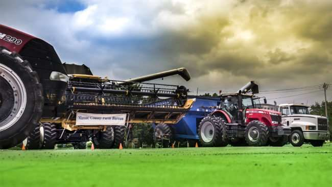 June 17, 2017 - Farm equipment on Metropolis St during Farm Frenzy 2017 by Massac County Farm Bureau, Metropolis, IL/photonews247.com
