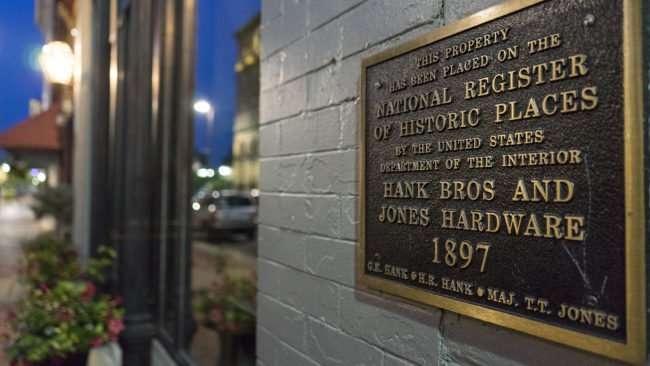 July 19, 2017 - Flower & Furbish in historic 1897 Hank Bros & Jones Hardware building on Broadway Main Street in downtown Paducah, KY/photonews247.com
