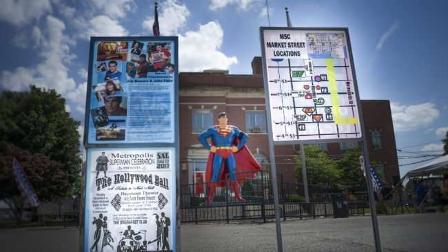 June 11, 2017 - Superman Celebration 2017 winding down Sunday afternoon on Market Street at Superman Square in Metropolis, IL/photonews247.com