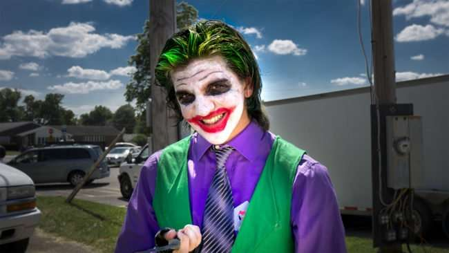 June 11, 2017 - Metropolis Supercon 2017 with contestant dressed like Joker from Suicide Squad during Superman Celebration/photonews247.com