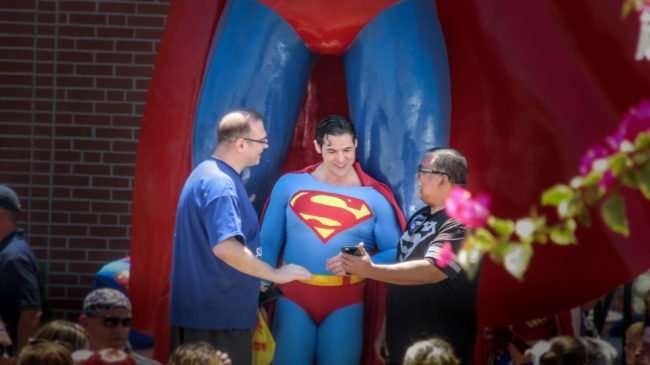 June 9, 2017 - Official Superman speaks with older fans at Superman Celebration 2017, Metropolis, IL/photonews247.com