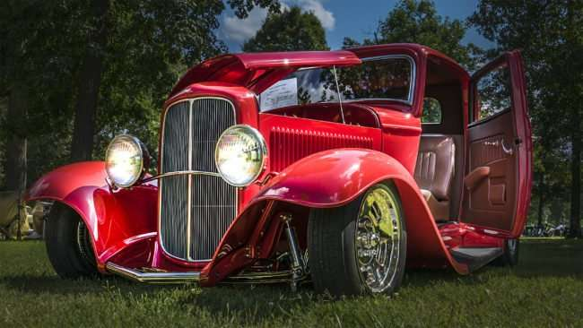 June 11, 2017 - Oscar's 1932 Ford Street Rod parked at Ft Massac State Park during the 31st Annual Super Car Show presented by the Metropolis Rotary Club/photonews247.com