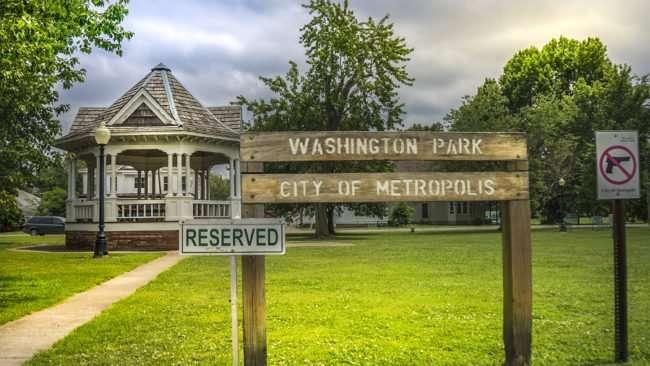 June 17, 2017 - Pavilion/ Gazebo in Washington Park, Metropolis, IL/photonews247.com
