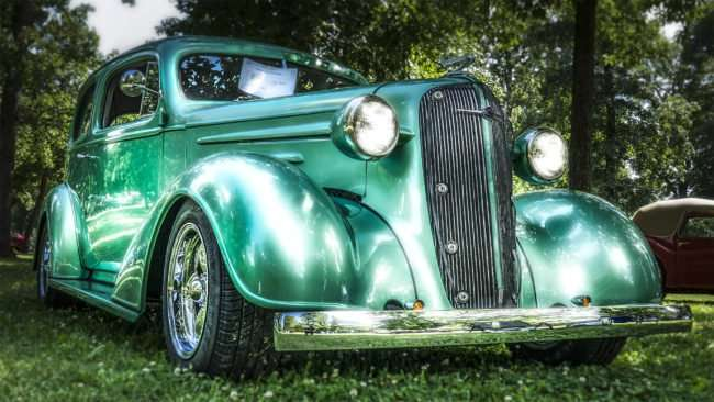 June 11, 2017 - Rickie's 1936 Standard Chevrolet 2 door sedan with a 350 engine at the 31st Annual Super Car Show in Fort Massac State Park presented by the Metropolis Rotary Club/photonews247.com