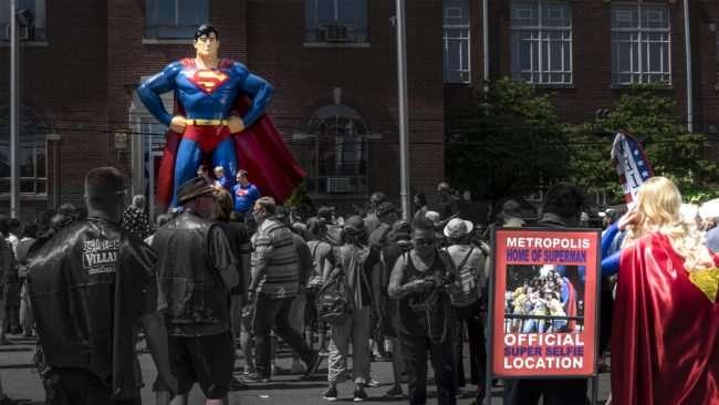 June 11, 2017 - Selfie Location at Giant Superman Statue, Market Street, Metropolis, IL/photonews247.com