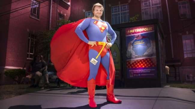 June 11, 2017 - Handsome Superman at Metropolis Supercon costume contest during Superman Celebration 2017 on Market Street/photonews247.com
