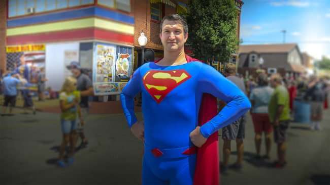 June 10, 2017 - Tall Superman at Metropolis Supercon at Superman Celebration 2017, Metropolis, IL/photonews247.com
