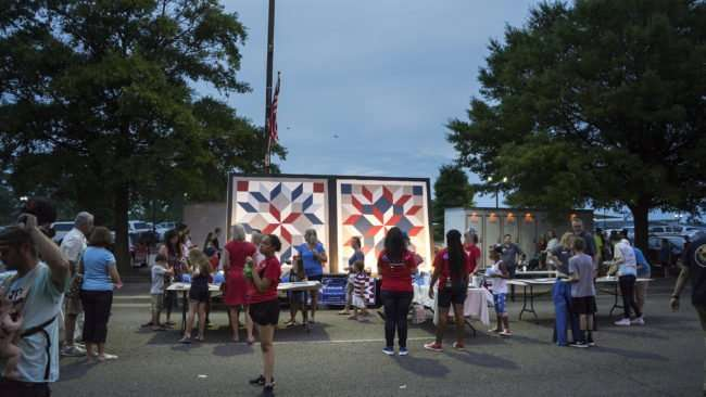 July 4, 2017 - A Paducah Patchwork-Bringing People Together is a mosaic painting created by the community /photonews247,com