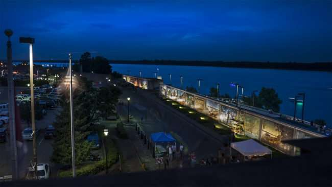 July 4, 2017 - Aerial view of Ohio River from N. Water and Broadway during Live on the River 2017 celebration in downtown Paducah before fireworks/photonews247.com