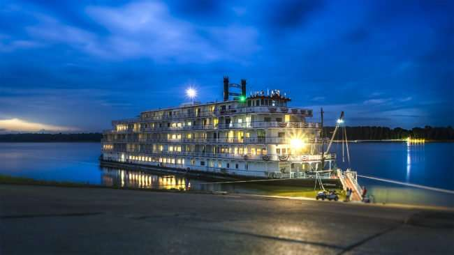 July 27, 2017 - The America riverboat was launched in 2016 by American Cruise Lines shown here docked on Ohio River in downtown Paducah, KY/photonews247.com