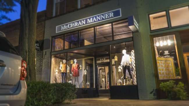 Aug 3, 2017 - Window dressings at McClaran Manner Fashion Boutique in Downtown Paducah, KY/photonews247.com